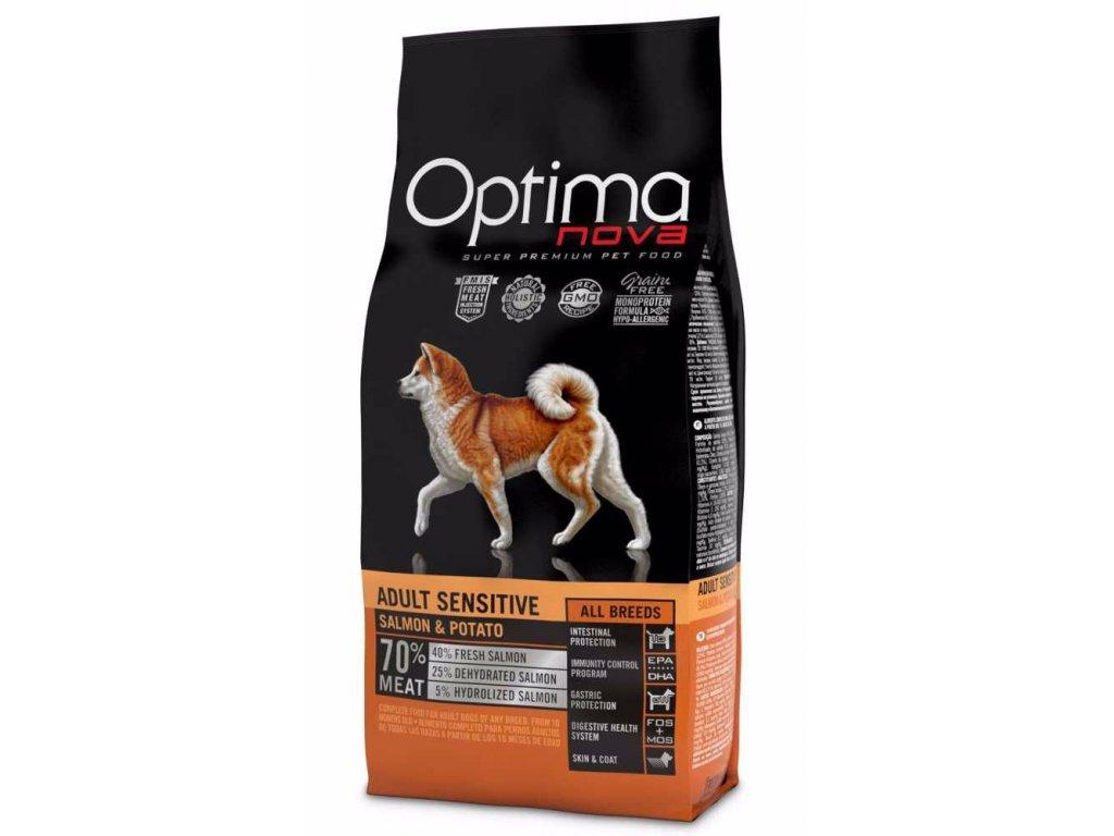 OPTIMAnova dog ADULT SENSITIVE GF Salmon 12kg-11094