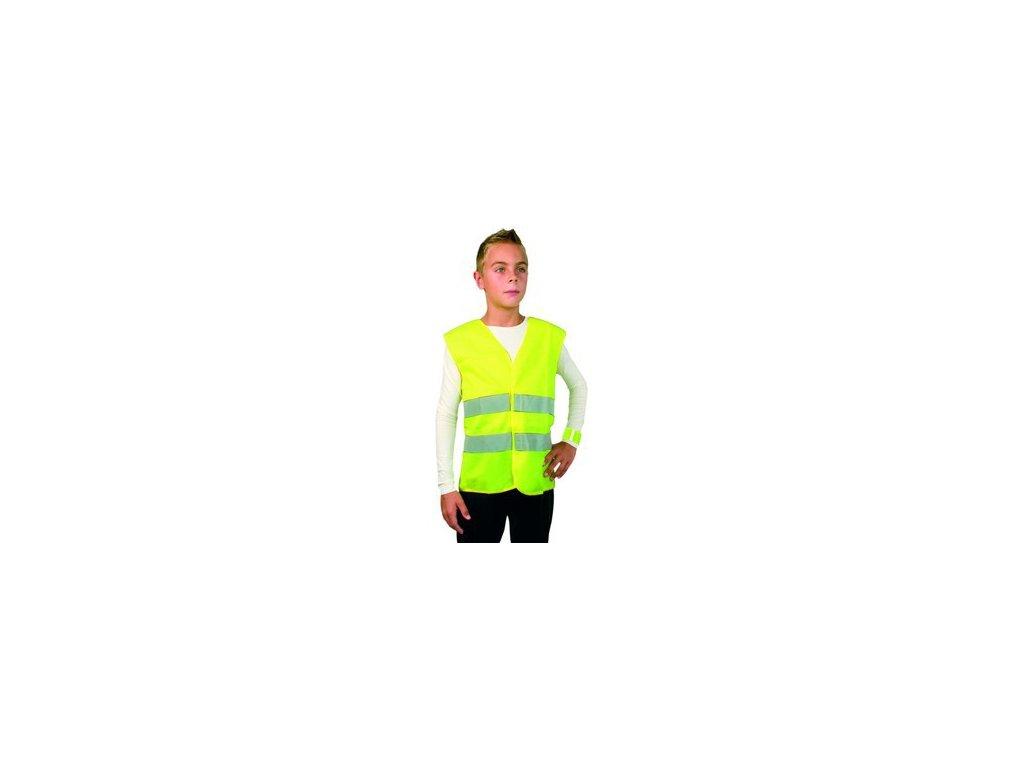 Dětská reflexní vesta TEDDY, žlutá