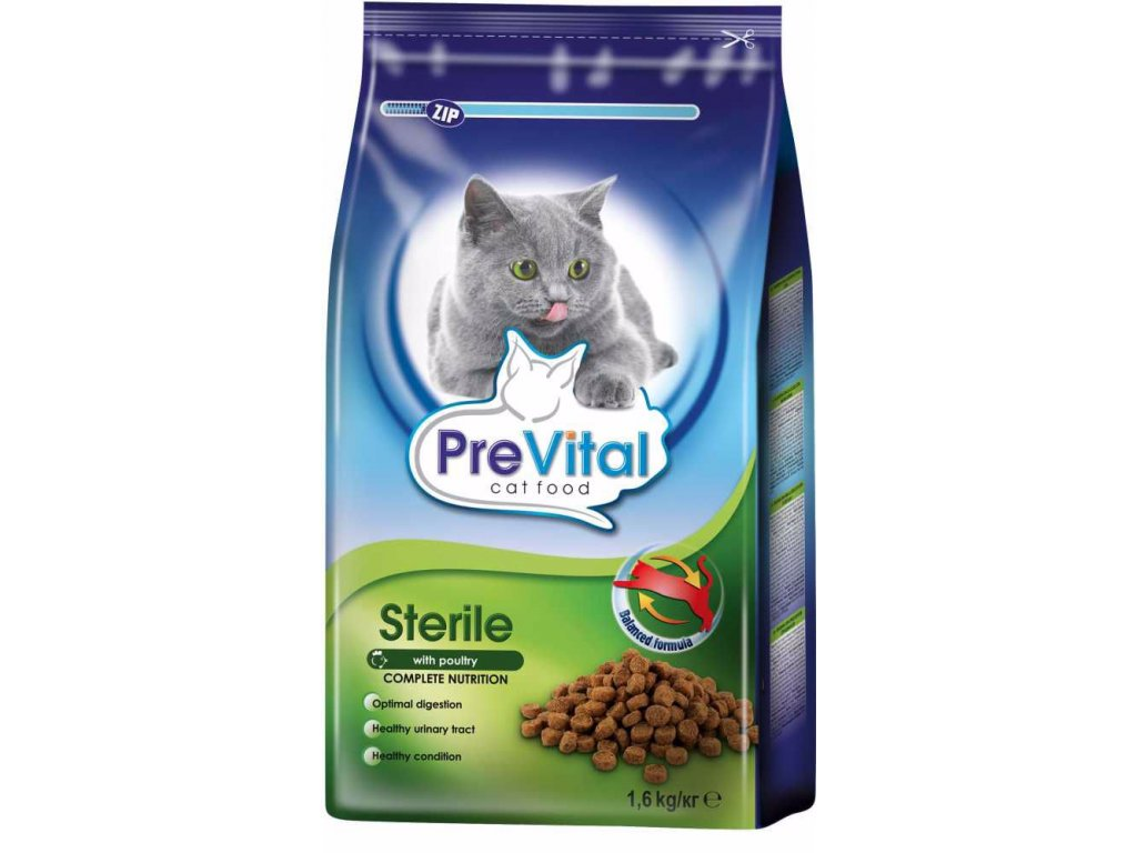 PreVital granule kočka steril. 1,6kg-11202
