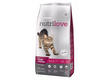 Nutrilove kočka granule ADULT fresh kuřecí 8kg-13209