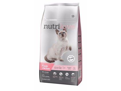 Nutrilove kočka granule STERILE fresh kuřecí 7kg-13211