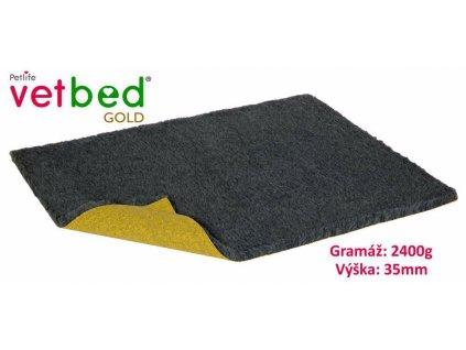 Vetbed Gold Grafitová 100x75cm 2400g, vlas 35mm-14632