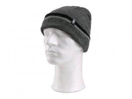 Zimní čepice IVAN, šedo-černá