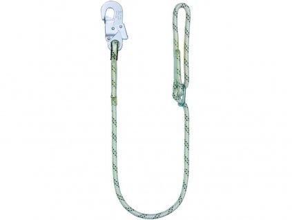 Bezpečnostní lano  LB 100 s karabinou, 1,5 m