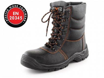 Zimní poloholeňová obuv s ocelovou špicí STONE TOPAZ S3