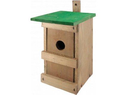 Budka SÝKORNÍK Č.1 dřevěná zelená 25x14x14cm