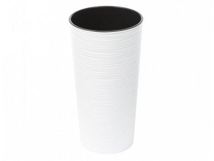 Obal na květník LILIA PROUTÍ plastový bílý d30x57cm