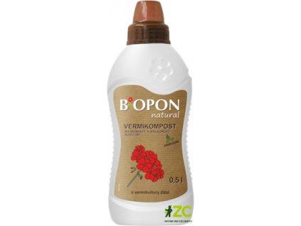 Biopon - Natural Vermikompost na muškáty a balkonové rostliny 500 ml