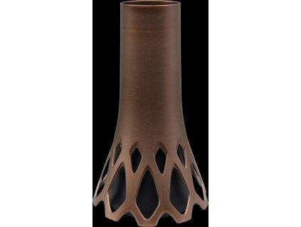 Váza hřbitovní Roseta bronz - se zátěží 1l