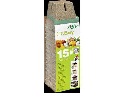 Rašelinový květináč hranatý Jiffypot® S8-15, 8 x 8 cm - balení 15 kusů