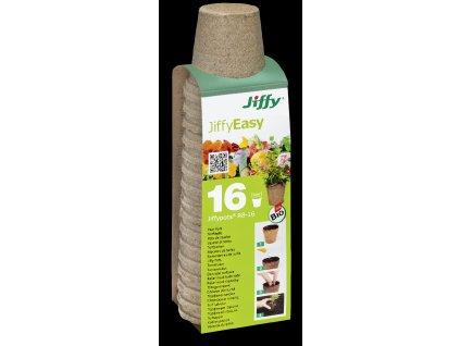 Rašelinový květináč Jiffypot® R8-16, 8 cm - balení 16 kusů