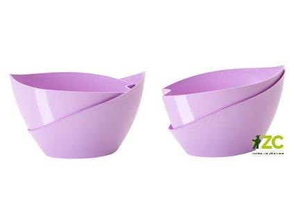 Květináč samozavlažovací Doppio - fialová 14 cm