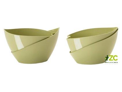 Květináč samozavlažovací Doppio - olivová 14 cm