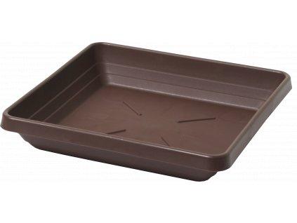Miska čtyřhranná Lotos - čokoládová 18x18