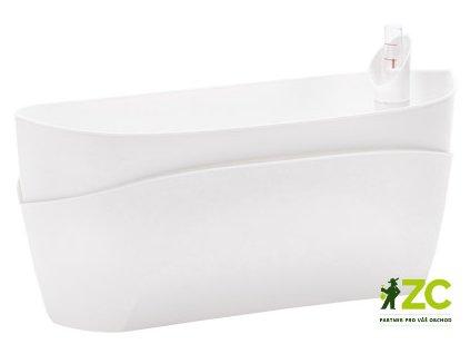 Truhlík samozavlažovací Doppio - bílá 38 cm