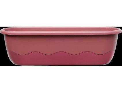 Truhlík samozavlažovací Mareta - růžová + vínová 80 cm