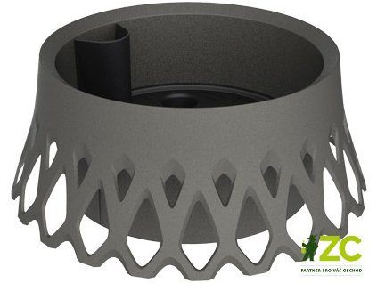 Žardina samozavlažovací Roseta - antracit 40 cm