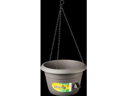Žardina samozavlažovací Siesta závěs - antracit 35 cm