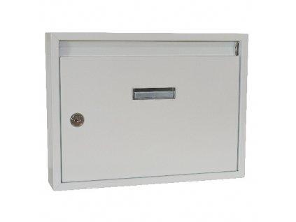 schránka poštovní paneláková 320x240x60mm BÍ bez děr