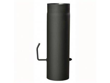 roura kouřová s klap.120mm/500 t.1,5mm ČER