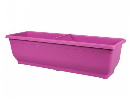 Truhlík VERBENA plastový fialovo růžový 50cm
