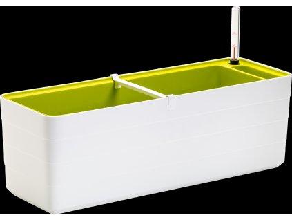 Plastia Berberis samozavlažovací truhlík bílo-zelený 60cm