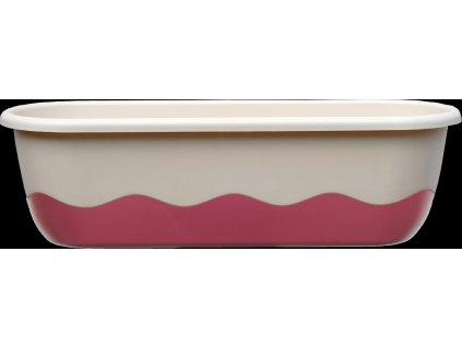Truhlík 60cm samozavlažovací Mareta - slon.kost +vínová