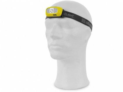 Čelovka CREE LED XPG, nabíjecí, žluto-černá