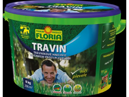 Hnojivo TRAVIN KRÁL TRÁVNÍKŮ s účinkem proti plevelům 8kg