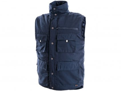 Pánská zimní vesta DENVER, modrá