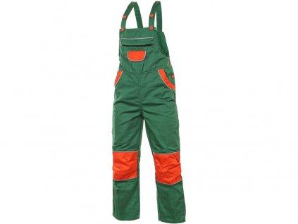 Dětské zahradníky PINOCCHIO, zeleno-oranžové