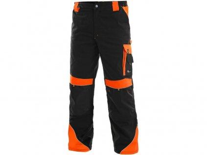 Kalhoty do pasu CXS SIRIUS BRIGHTON, černo-oranžová, vel.46