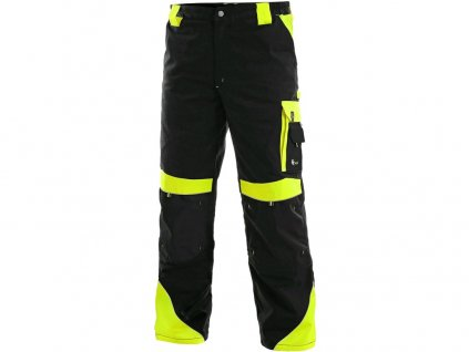 Kalhoty do pasu CXS SIRIUS BRIGHTON, zimní, pánské, černo-žluté, vel.44-46