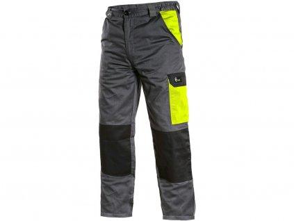 Kalhoty CXS PHOENIX CEFEUS, šedo-žlutá