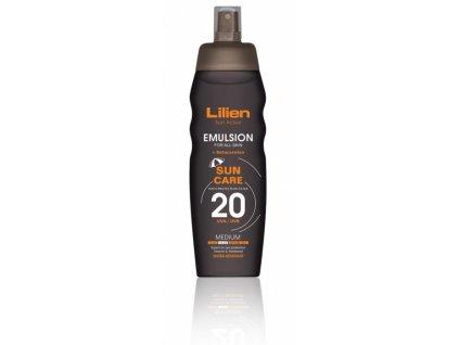 Union Cosmetic Lilien Sun Active opalovací emulze OF 20 200 ml
