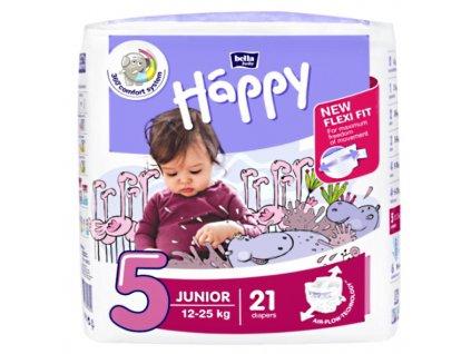 Bella Happy Junior - dětské plenky 12-25 kg, 21 ks