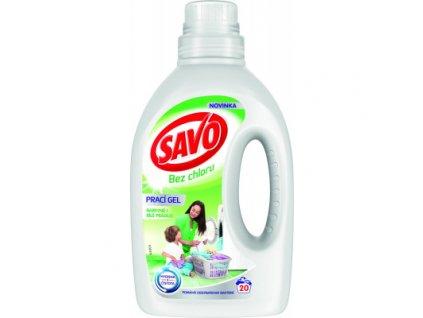 Savo bez chloru prací gel na barevné i bílé, 20 praní, 1 l