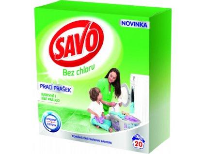 Savo bez chloru prací prášek na barevné a bílé, 20 praní, 1,4 kg