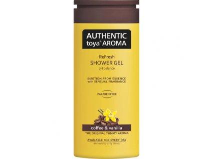 Authentic Toya Aroma Coffee & Vanilla sprchový gel, 400 ml
