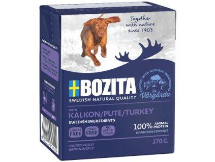 Bozita Dog krůtí maso, konzerva kousky v želé, 370 g