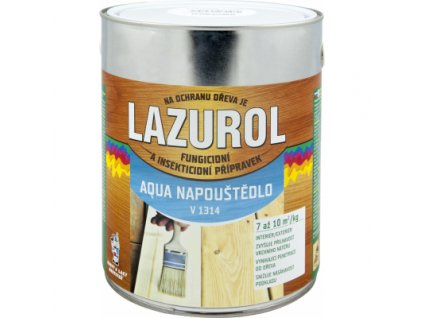 Lazurol Aqua napouštědlo V1314 prevence proti houbám a hmyzu bezbarvý, 2,5 kg