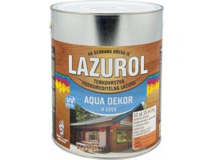 Lazurol Aqua Dekor V1315 tenkovrstvá lazura na dřevo, akácie, 2,5 kg
