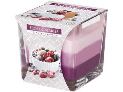 Bispol Frozen Berries tříbarevná vonná svíčka ve skle, 170 g