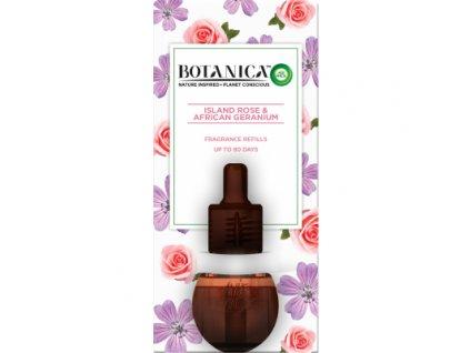 Air Wick Botanica Exotická růže & africká pelargónie elektrický osvěžovač náhradní náplň, 19 ml