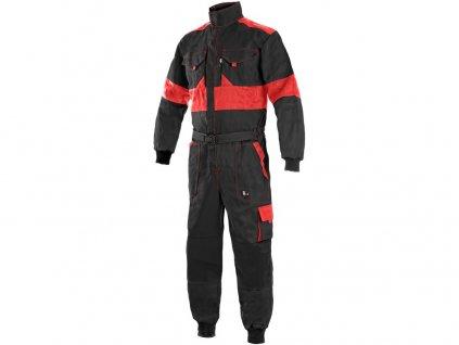 Kombinéza CXS LUXY ROBERT, prodloužená, pánská, černo-červená
