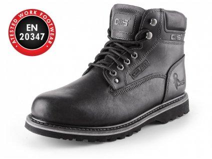 CXS Road Clarke celokožená kotníková obuv bez ocelové špice černá