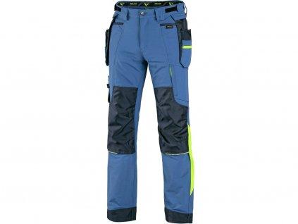 CXS Naos pánské kalhoty, modro-modré, HV žluté doplňky
