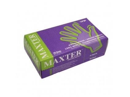 Jednorázové latexové rukavice MAXTER pudrované (velikost S - XL)