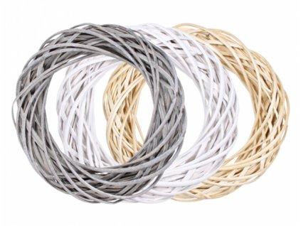 Kruh ze štípaného proutí mix barev d30cm 6cm