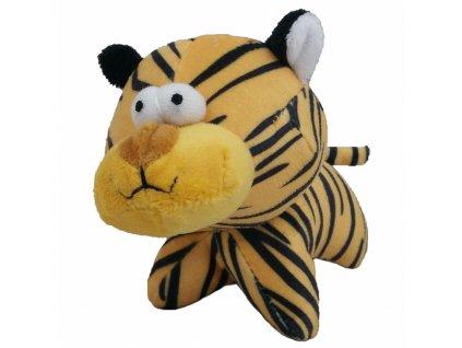 Hračka pes - plyšový tygr pískací 12 cm